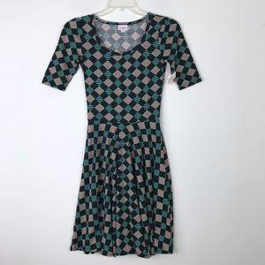 LuLaRoe Nicole Geometric Shirt Dress NWT #643